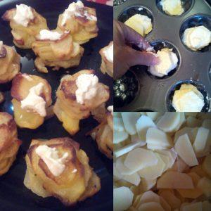 krompir u kalupima za mafine